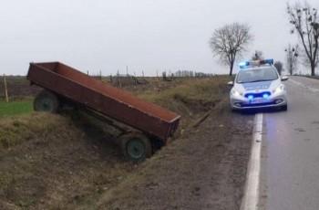 Pijany rolnik gonił swój własny ciągnik