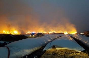 Ogromny pożar gospodarstwa. Straty wynoszą aż pół